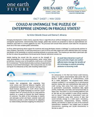 artifical intelligence lending africa factsheet